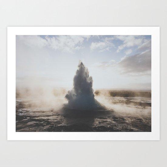 Geysir, Iceland Art Print