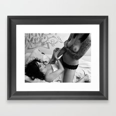 Heroin Girls Framed Art Print