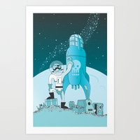 Space Pirate! Art Print