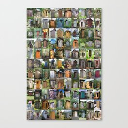 Outhouses Canvas Print
