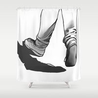 run Shower Curtains featuring Run by 3Redroses