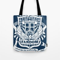 fandom Tote Bags featuring Fandom School for the Emotionally Invested by isabloo