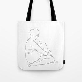 Nude life drawing figure - Brit Tote Bag