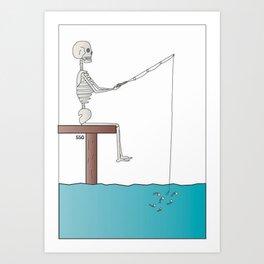Fishing For Bones Art Print