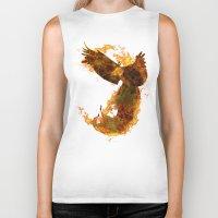 phoenix Biker Tanks featuring Phoenix by Barruf