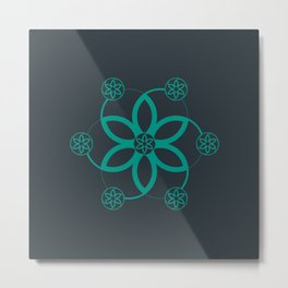 Evolution | Alien crop circle | Sacred geometry Metal Print
