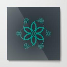 Evolution   Alien crop circle   Sacred geometry Metal Print