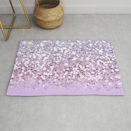 Sparkly Unicorn Lilac Glitter Ombre Rug