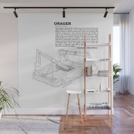 Onager Sketch [Black] Wall Mural