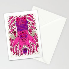 pink worm neck Stationery Cards