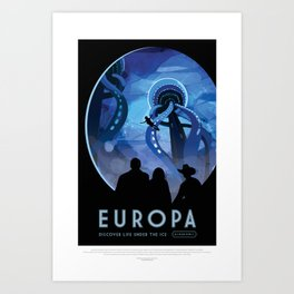 NASA Visions of the Future - Europa: Discover Life Under the Ice Art Print