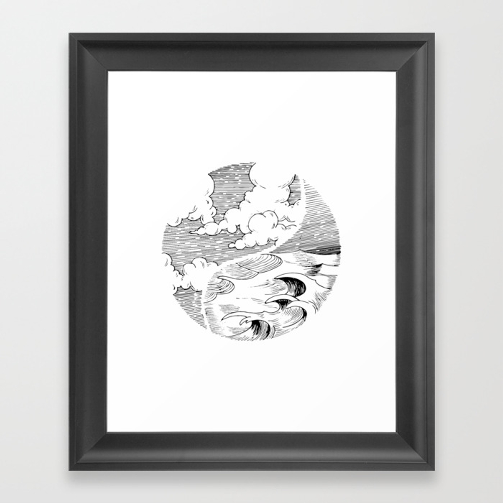 Storm In A Cup Framed Art Print by Adhesive FRM8492934