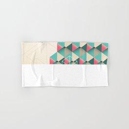 Empty cubes Hand & Bath Towel