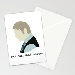 Sad Cannibal Noises Stationery Cards