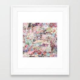 Glasgow map Framed Art Print