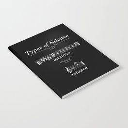 Types of silence (dark colors) Notebook