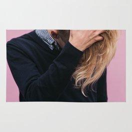 MAN - WOMAN - LONG - HAIR - PINK - PHOTOGRAPHY Rug