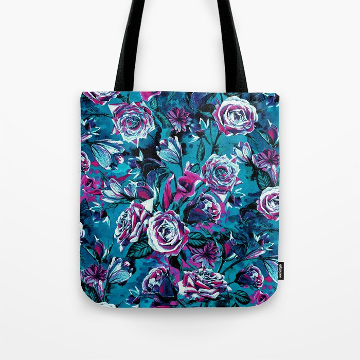 RPE FLORAL VIII BLUE Tote Bag