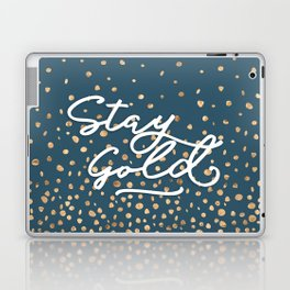 Stay Gold - Golden Drops Laptop & iPad Skin