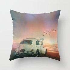 NEVER STOP EXPLORING A SUNDOWN Throw Pillow