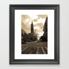 NYC streets Framed Art Print
