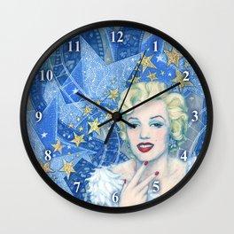 Marilyn, Old Hollywood, celebrity portrait Wall Clock