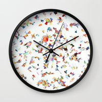 vogue Wall Clocks featuring Italian Vogue by Erick Stow