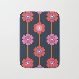 Peace - 70s retro vibes flower power floral flowers pattern art 1970's Bath Mat