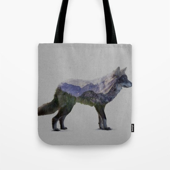 The Rocky Mountain Gray Wolf Tote Bag