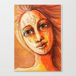 Her Spirit Helper Canvas Print