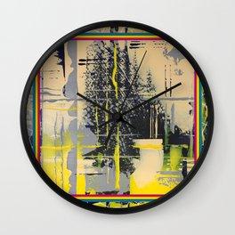 Sunday Morning - colour frame Wall Clock