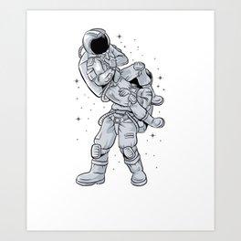 Bjj Astronaut Galactic Flying Armbars Art Print