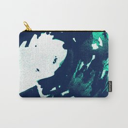 Navy Blue, Black, Blue, Bold Green Wave Carry-All Pouch