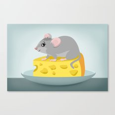 Mouse with cheese - Mice series Canvas Print