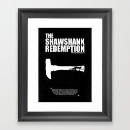 The Shawshank Redemption - A Minimal Movie Poster. A Film by Frank Darabont. Framed Art Print