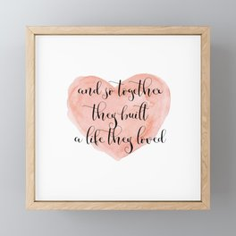 Together Framed Mini Art Print