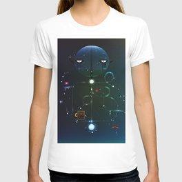 Self Portrait: Raid Boss, Coffee and Constellations T-shirt