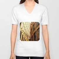 library V-neck T-shirts featuring Library  by Ethna Gillespie