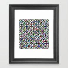 Patchwork Rainbow Framed Art Print