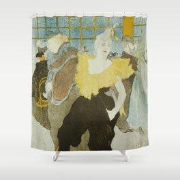 """Henri de Toulouse-Lautrec """"La Clownesse"""" Shower Curtain"""