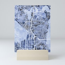 Seattle Washington Street Map Mini Art Print