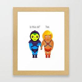 Valentines day in Eternia - He-man and Skeletor Framed Art Print