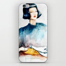Girl with Crocodile Skull iPhone & iPod Skin