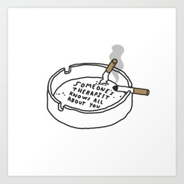 Therapy Tray Art Print