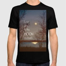 To the Moon and Back MEDIUM Mens Fitted Tee Black