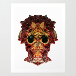 Halloween Mask 0214 Art Print