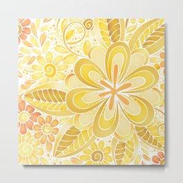 Spring is Yellow Metal Print