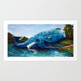 Ol' Blue Art Print