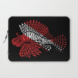 Tribal Scuba Flag Lionfish Laptop Sleeve