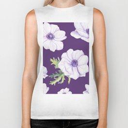 Anemones Purple #society6 #buyart Biker Tank